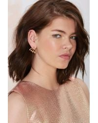 Nasty Gal | Metallic Gold Up Ear Jacket Earrings | Lyst