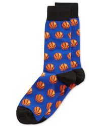 Hot Sox | Blue Basketball Crew Socks for Men | Lyst