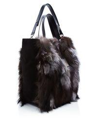 Michael Kors - Metallic Addington Extra Large Fur Tote - Lyst