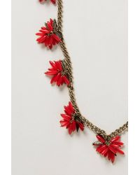 BaubleBar - Red Ixora Blossoms Necklace - Lyst