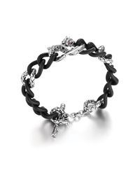 John Hardy | Naga Black Sapphire, Ruby, Resin & Sterling Silver Dragon Chain Bracelet | Lyst