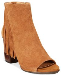 Kenneth Cole Reaction | Brown Frida World Fringe Booties | Lyst
