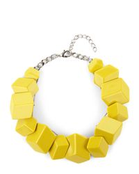 Jaeger | Green Flat Cube Cluster Necklace | Lyst