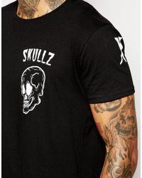 Born Idol - Black Bone Idol Halloween Skullz T-shirt for Men - Lyst