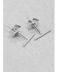& Other Stories - Metallic Small Bar Studs - Lyst