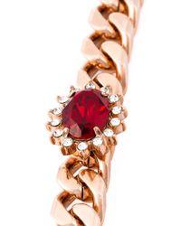 Mawi - Metallic Emeralds Word Charm Necklace - Lyst