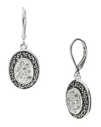 Lord & Taylor | Metallic Rhinestone Accented Earrings | Lyst
