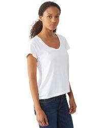 Alternative Apparel | White Roadtrip Satin Jersey T-shirt | Lyst
