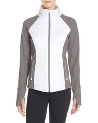Zella | White Zelfusion Quilted Jacket | Lyst