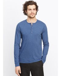 Vince | Blue Favorite Jersey Long Sleeve Henley for Men | Lyst