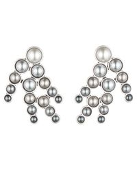 Lulu Frost | Metallic Pearl Spray Earring - Grey Ombre | Lyst