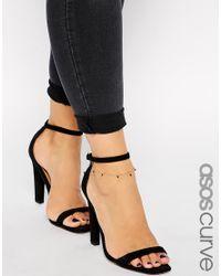 ASOS - Black Bead Anklet - Lyst