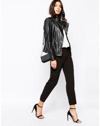 BOSS Orange - Black Jopida Leather Jacket - Lyst