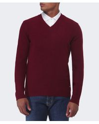 BOSS Orange | Red Acestas Wool V-neck Jumper for Men | Lyst