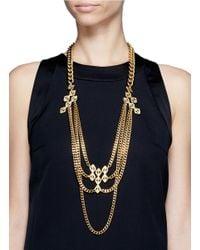 Ela Stone - Metallic Paloma Geometric Chain Necklace - Lyst