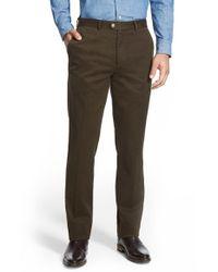 Bensol - Brown Slim Cotton Moleskin Pants for Men - Lyst