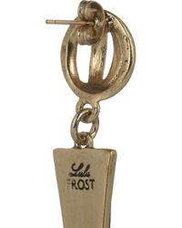 Lulu Frost   Orbit Blackened Gold-Tone Drop Earrings   Lyst