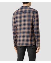 AllSaints - Brown Mulvey Shirt for Men - Lyst