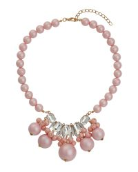 Mikey | Pink Large Beads Stone Pendant Necklace | Lyst