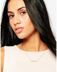 Estella Bartlett | Metallic Rose Gold Plated Stargazer Necklace | Lyst