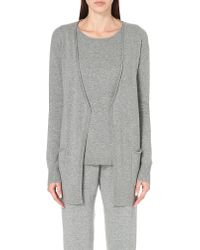 Allude | Gray Open-front Cashmere Cardigan | Lyst