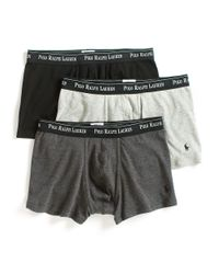 Polo Ralph Lauren | Black Three Cotton Boxer Briefs for Men | Lyst