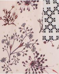 Zara   Pink Shiny Printed Top   Lyst