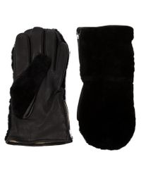 Éditions MR - Black Shearling Mittens for Men - Lyst