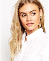 ASOS | Black Rose Double Earrings | Lyst