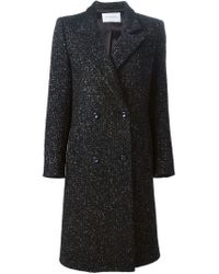Viktor & Rolf - Black Double Breasted Coat - Lyst
