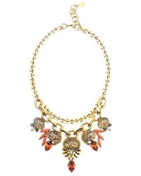 Elizabeth Cole | Metallic Dominique Necklace, Fire Opal | Lyst