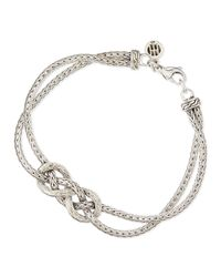 John Hardy | Metallic Classic Chain Silver Love-knot Bracelet for Men | Lyst