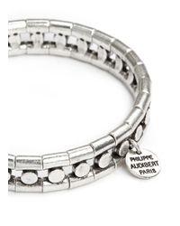 Philippe Audibert | Metallic 'chris' Bead Elastic Bracelet | Lyst