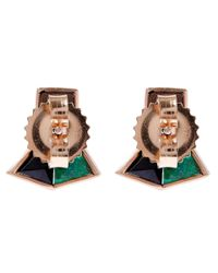 Nak Armstrong - Green Blue Mosaic Gemstone Stud Earrings - Lyst