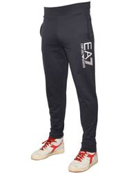 EA7 | Blue Cotton Sweatshirt & Jogging Pants for Men | Lyst