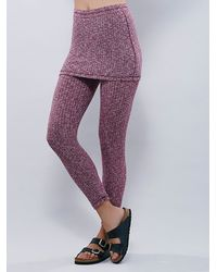Free People | Pink Lounge Out Skirted Legging | Lyst