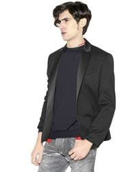 Balmain - Black Stretch Wool Twill Jacket for Men - Lyst