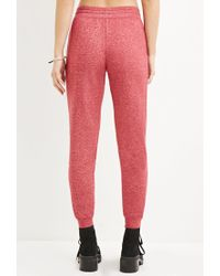 Forever 21 - Red Classic Marled Joggers - Lyst