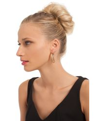 Trina Turk - Metallic Oval Hoop With Inner Ring - Lyst