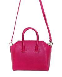 Givenchy - Pink Mini Antigona Grained Leather Bag - Lyst