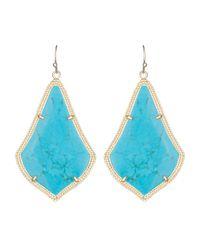Kendra Scott - Blue Alexandra Earrings - Lyst