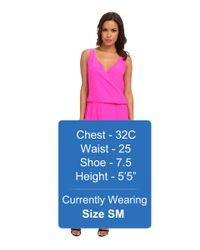 Amanda Uprichard - Pink Double Crossover Dress - Lyst