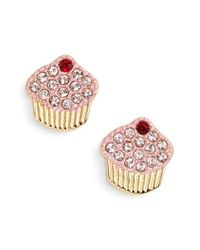 kate spade new york | Metallic 'thing We Love - Cupcake' Stud Earrings | Lyst