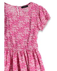 Forever 21 | Pink Ditsy Floral Print Dress | Lyst
