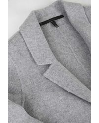 TOPSHOP - Gray Handmade Wool Duster Coat By Boutique - Lyst