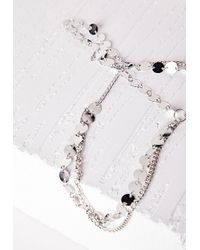 Missguided   Metallic Disk Layered Headpiece Silver   Lyst