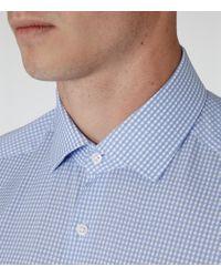 Reiss - Blue Katana Slim-fit Checked Shirt for Men - Lyst