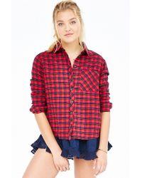 BDG - Red Louie Flannel Shirt - Lyst