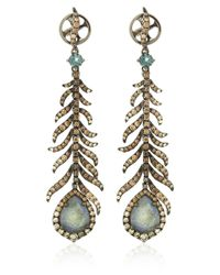Annoushka | Metallic Mythology Tsar Feather Earrings | Lyst