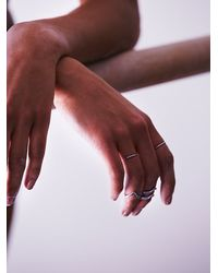 Free People - Metallic Mix N Match Midi Ring Set - Lyst